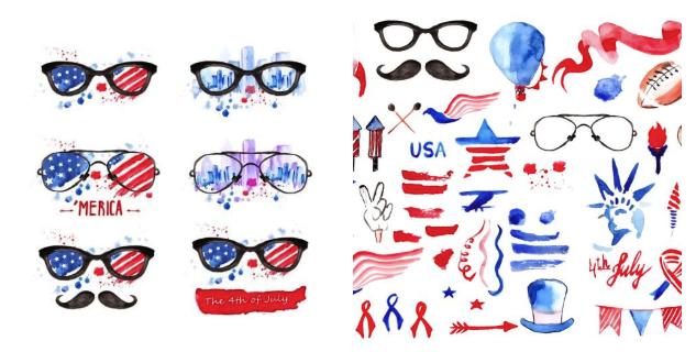 Patriotic America Clip Art