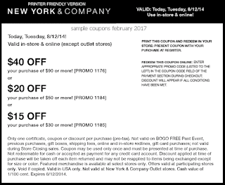 free New York And Company coupons for february 2017