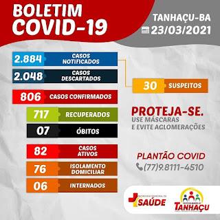 Tanhaçu registra 7º óbito por complicações da Covid-19