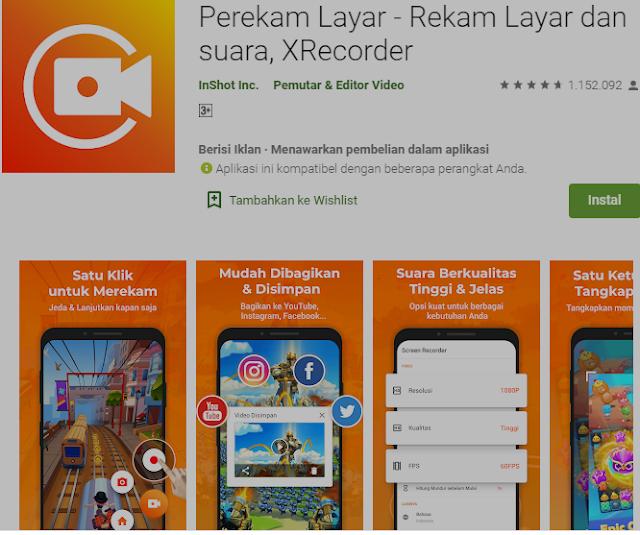 Aplikasi Gratis untuk Merekam Layar Anda di Android. 2