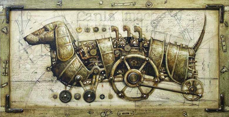 14-Vladimir-Gvozdev-Surreal-Steampunk-Animal-Drawings-www-designstack-co