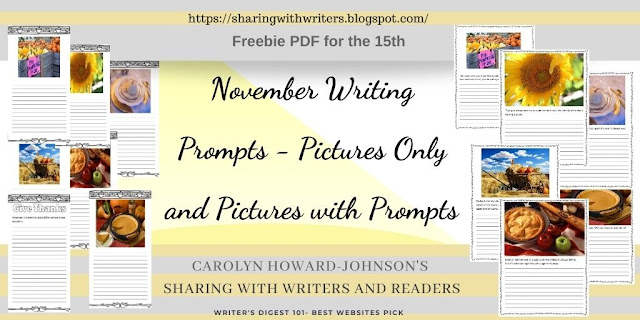 Writing Prompts for November Freebie for the 15th