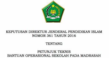 Download Juknis BOS Madrasah Terbaru Anggaran 2017