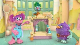 Abby Cadabby, Blögg, Gonnigan, Abby's Flying Fairy School Pinocchio Process, Sesame Street Episode 4325 Porridge Art season 43