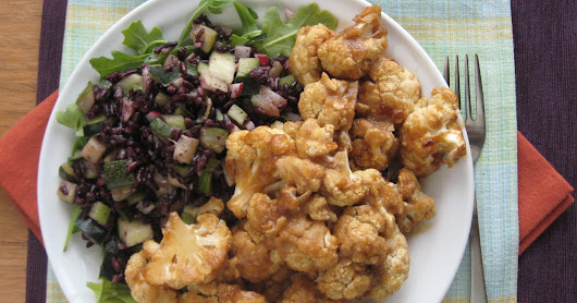Apricot-Glazed Cauliflower for One