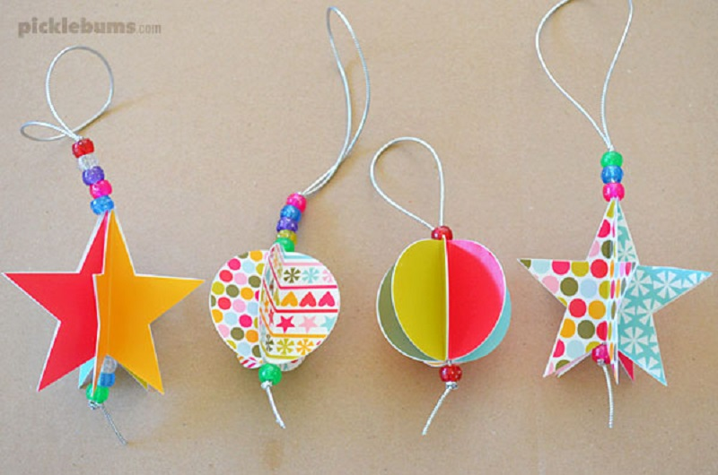 picklebums paper ornaments