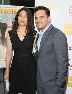 Jake Johnson With His Wife Erin Payne In