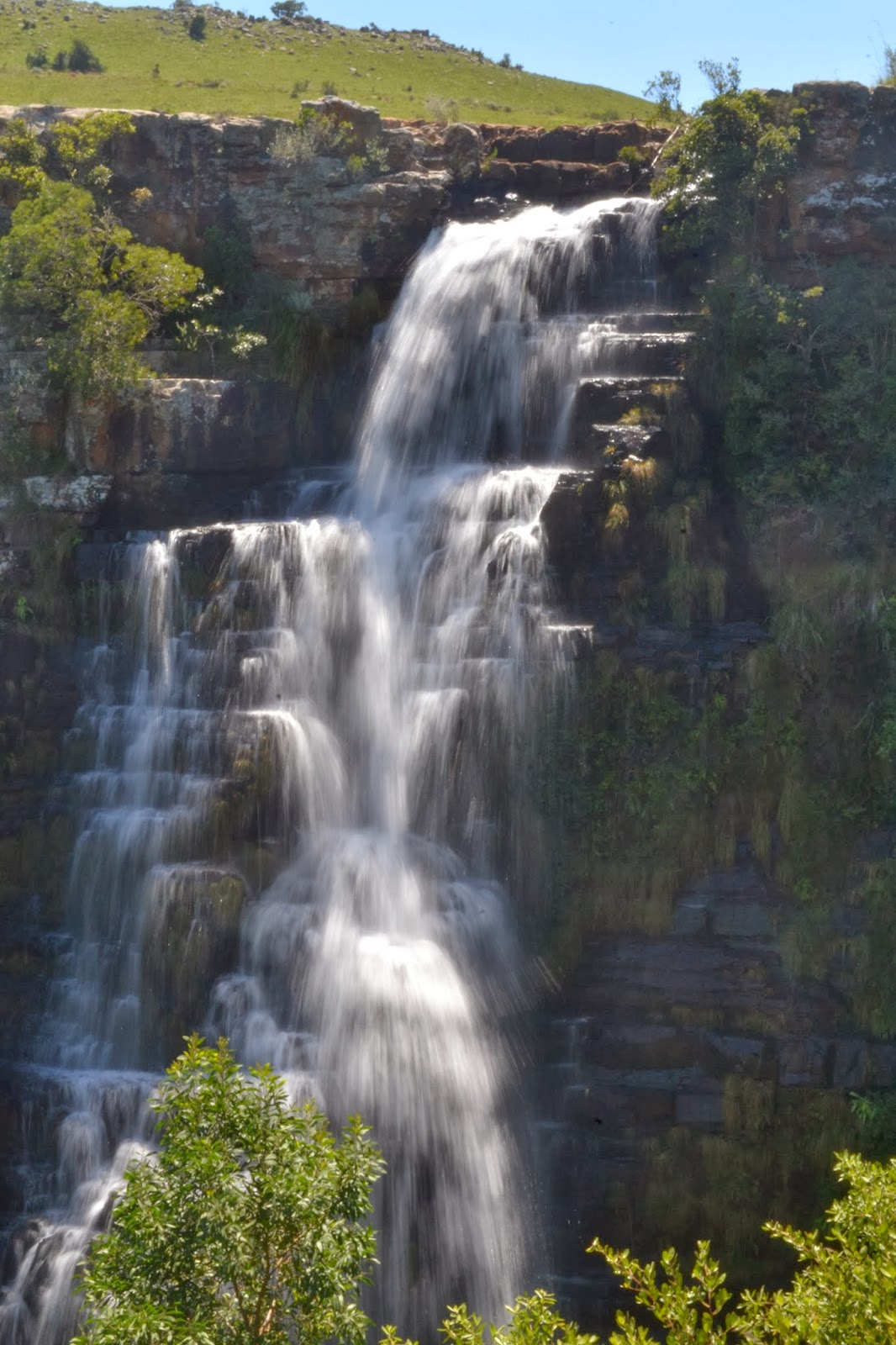 Flowing waterfall South Africa