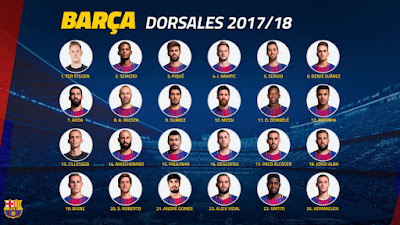 Players shirt numbers