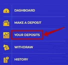 Досрочный вывод депозита в Alibit
