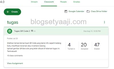 Cara mengkoreksi tugas siswa di google classroom