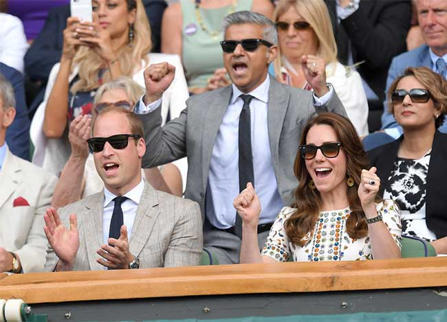 William and Kate got the chance to see Andy Murray's second win in 2016