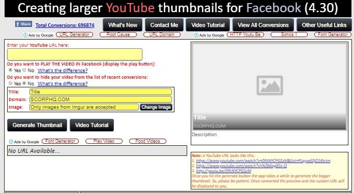 FBLINKER: GET A LARGE FACEBOOK LINK THUMBNAIL FREE ~ Online