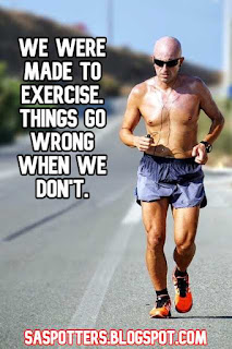We were made to exercise. Things go wrong when we don't.