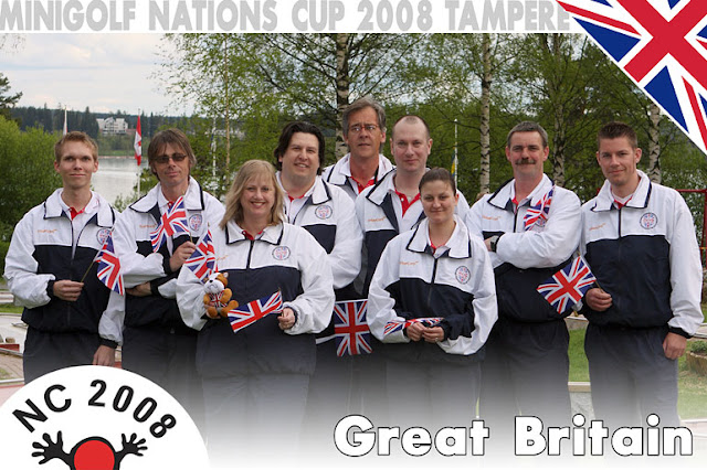 The 2008 Great Britain squad - Jouni Valkjarvi (coach), John 'Big Top Ted' McIver, Marion 'Mation' Homer, Sean 'Freebird' Homer, Tim 'Ace Man' Davies, Steve 'F1' Gow, Emily 'Lemony' Gottfried, Andy 'Sarge' Booth, 'Squire' Richard Gottfried