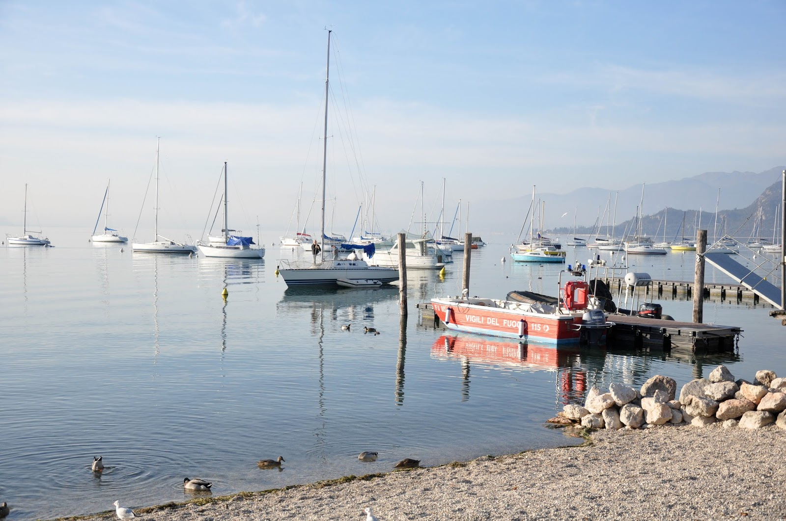The marina, Bardolino, Lake Garda, Italy