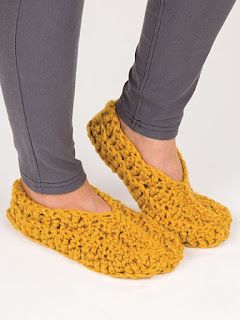 Crochet super simple slippers pattern