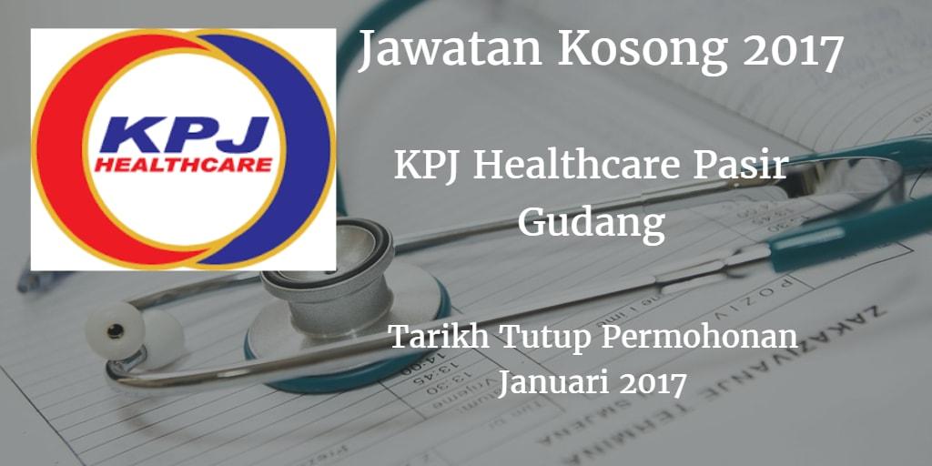 Jawatan Kosong KPJ Healthcare Pasir Gudang Januari 2017