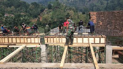 Satgas TMMD Kebut Garap Pendopo dan Balai Desa Jembul