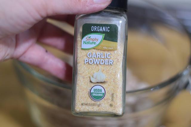 A jar of garlic powder.
