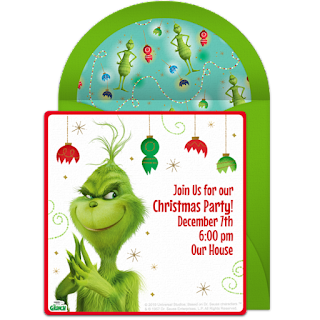 Free printable grinch invitation