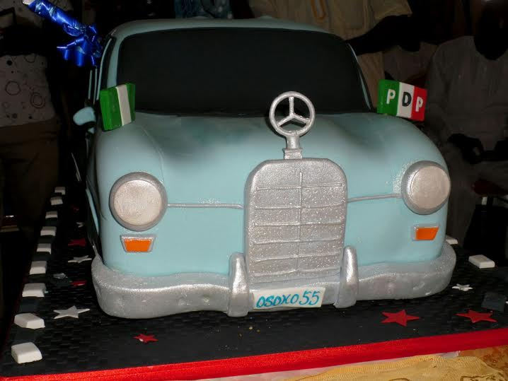 Fayose Celebrates 55th Birthday With Old Mercedes Benz