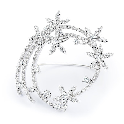 Broche de diamantes para novia de RABAT - Blog Mi Boda