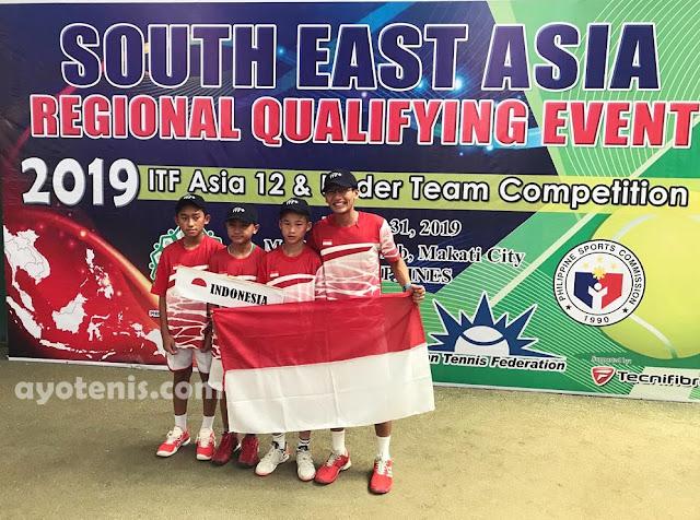 Skuad Tenis Garuda Muda U12 Melaju ke Finals ITF Asian 12&U Team Competition di Kazakhstan