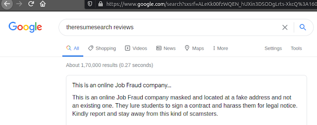 Theresumesearch review || data entry job fake website
