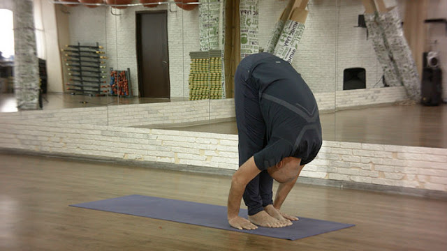 Uttanasana or Standing Forward Bend