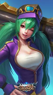 Layla Green Flash Heroes Marksman of Skins V1