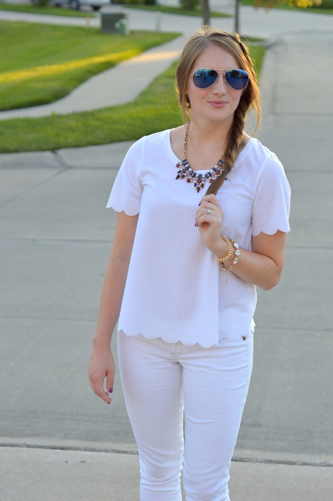 how to style a white on white outfit