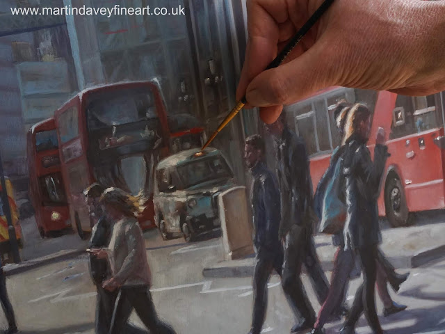 urban Liverpool street London WIP art M P Davey