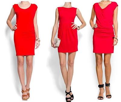 3 vestidos rojos de mango