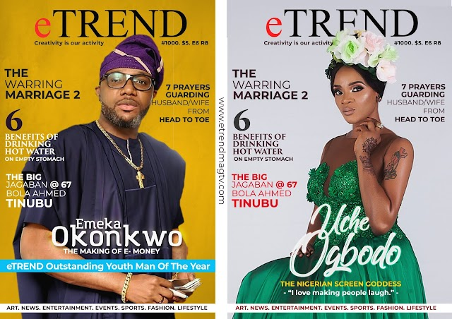 Uche Ogbodo, E money Covers eTrend Magazine