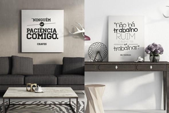 Quadros decorativos com frases engraçadas
