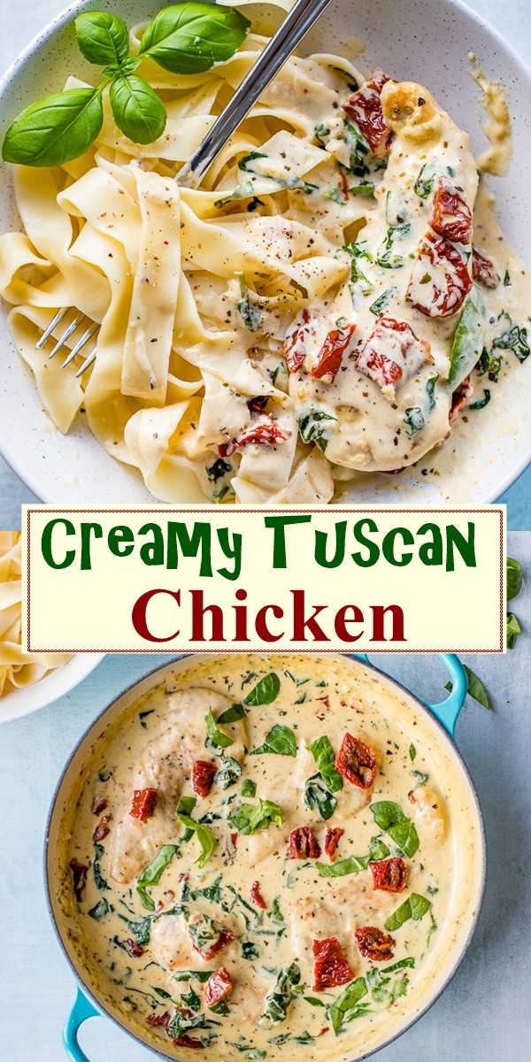 Creamy Tuscan Chicken #dinnerrecipes