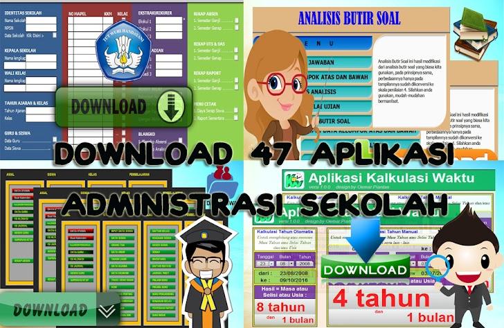 Download 47 Aplikasi Administrasi Sekolah Format Excel Super Lengkap
