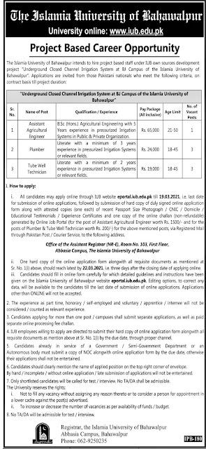 The Islamia University of Bahawalpur Jobs 2021 in Bahawalpur
