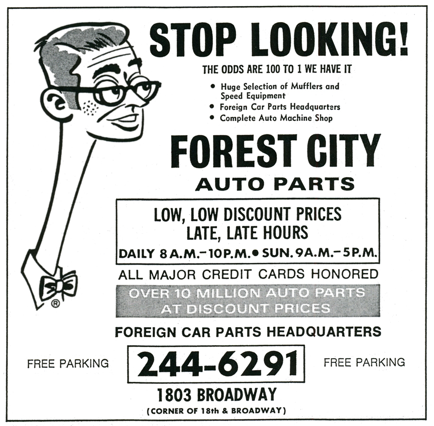 Forest City Auto Parts - 1803 Broadway, Lorain, Ohio U.S.A. - 1974