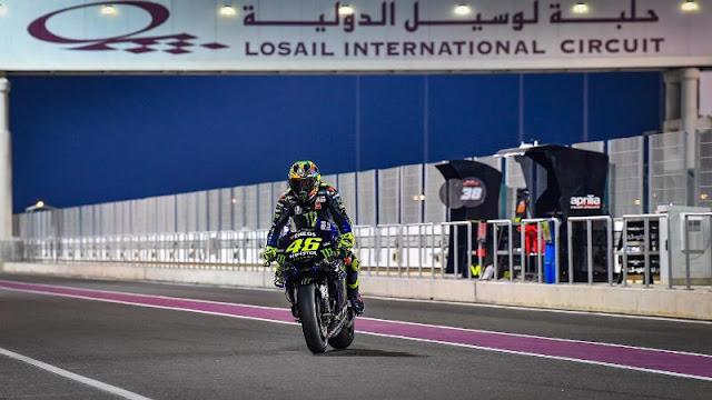 Tes Hari kedua Losail Qatar Fabio Quartararo Tercepat Kalahkan Alex Rins dan Marc alami Crash