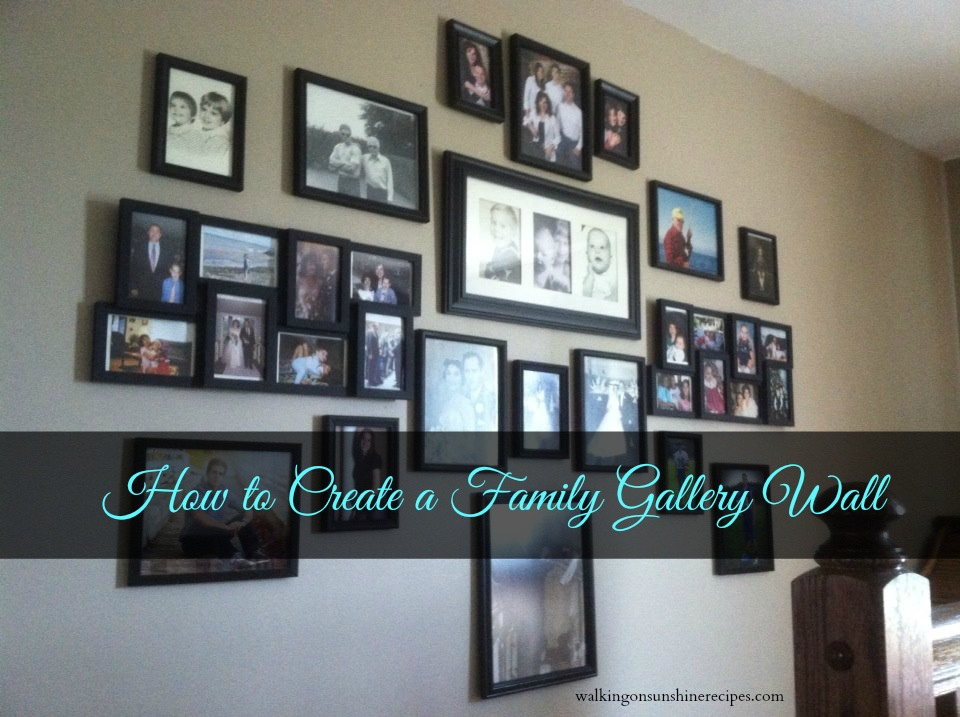 How to Create a Family Wall of Photos   Walking on ...