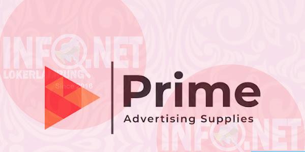 Lowongan Kerja Lampung Operator CNC Router Prime Advertising Supplies