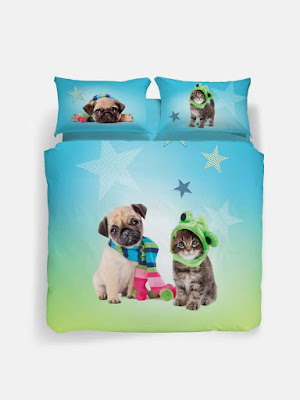 STAR.  CONJUNTO FUNDA NORDICA CALEFFI COLECCION STUDIO PETS BY MYRNA
