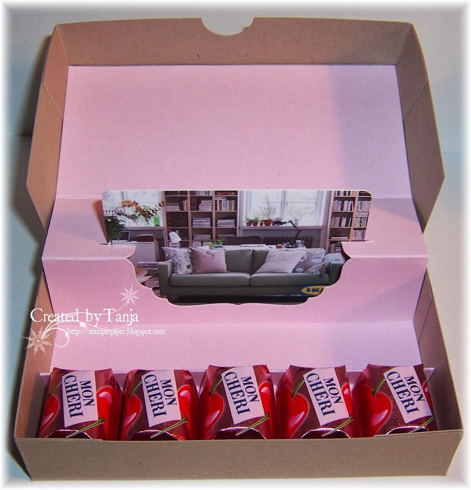 stempeleinmaleins gutscheinbox gift card box. Black Bedroom Furniture Sets. Home Design Ideas