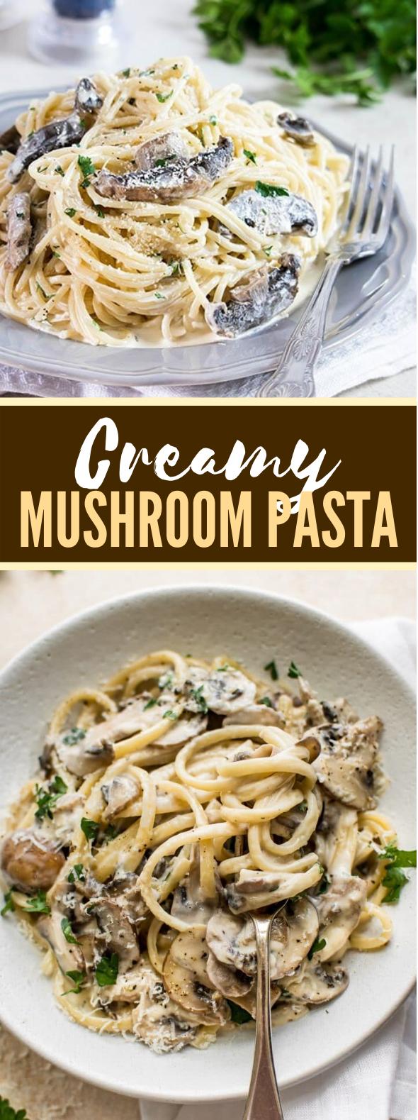 Creamy Mushroom Pasta #vegetarian #weeknightdinner