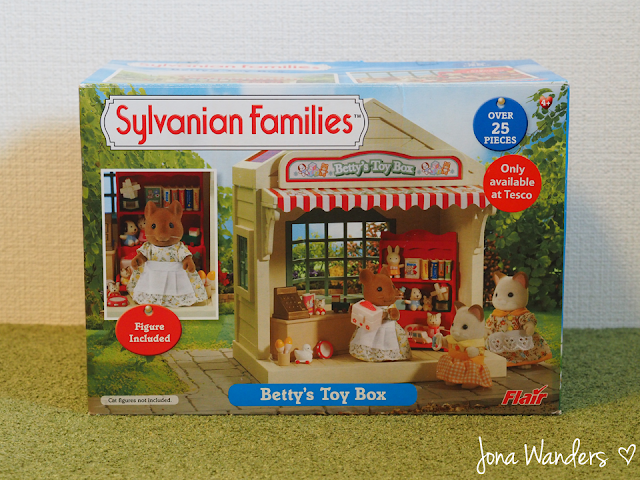 Betty's Toy Box commercial packaging.