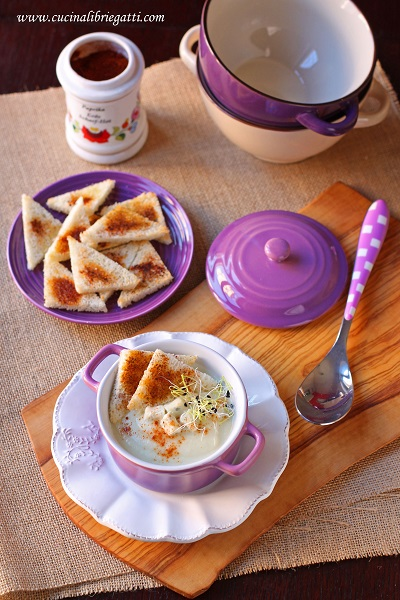 crema cavolfiore gorgonzola paprika ricetta