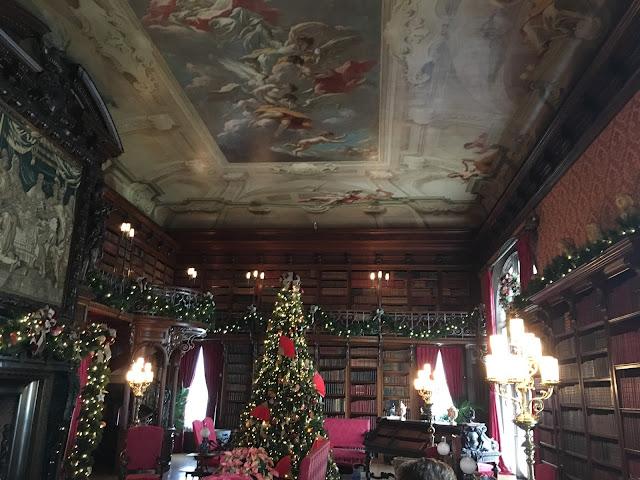 Biltmore Library at Christmas