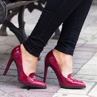 Pantofi dama Filipa visinii cu toc • modlet